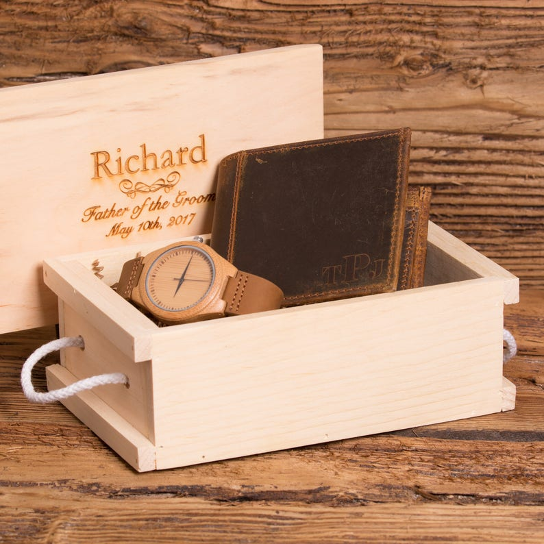 39772ce98 Reloj personalizado y cartera padrino padre de la novia | Etsy