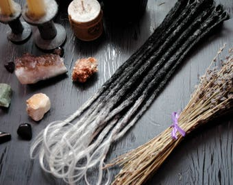Synthetic Dreads. Wavy ends