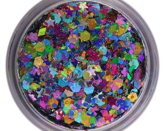 Rainbow Unicorn • Festival Glitter •  Glitter Makeup • Chunky Cosmetic Glitter | Dance - Eyes, Lips, Face | Face Paint Glitter