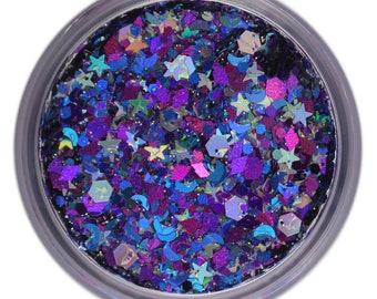 Intergalactic Unicorn Glitter • Festival Glitter •  Glitter Makeup • Chunky Cosmetic Glitter | Dance - Eyes, Lips, Face | Face Paint Glitter