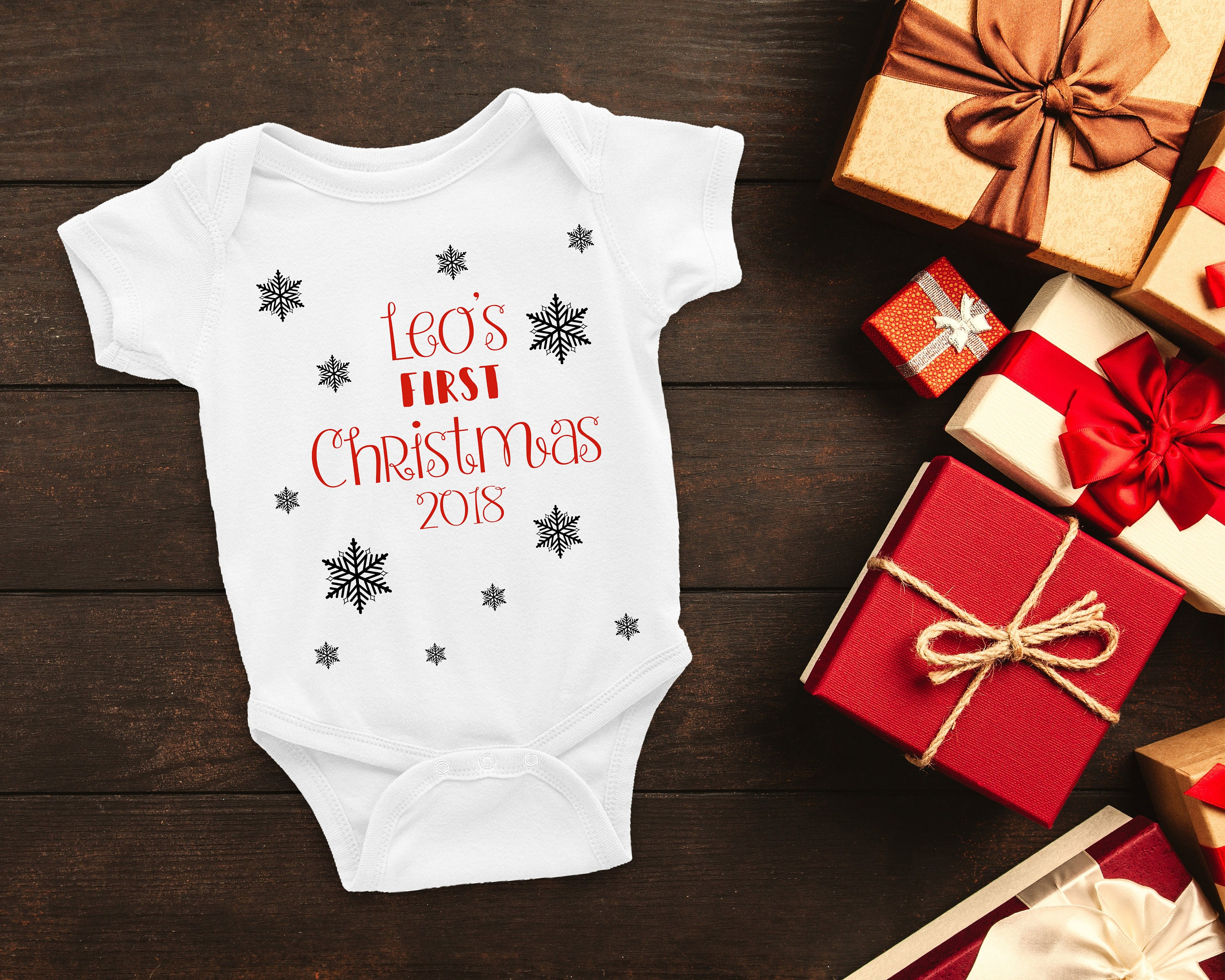 1e5337188a2c Personalised christmas babygrow personalized christmas