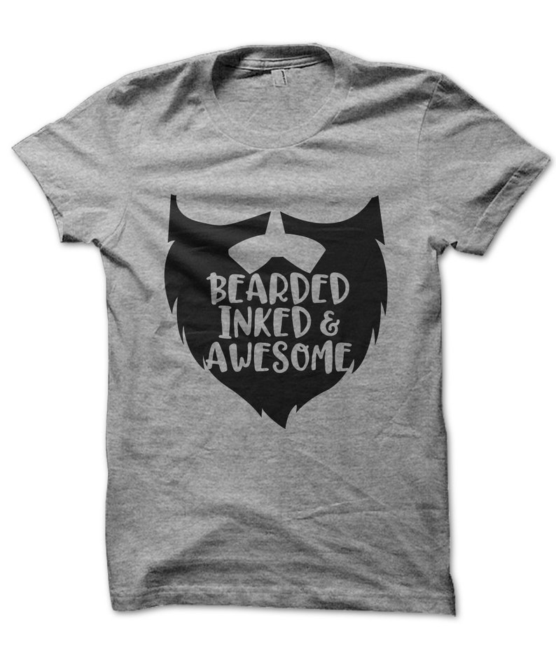 Gift for Dad Hipster Tattoo Bearded Inked /& Awesome Mens Funny Beard Hoodie