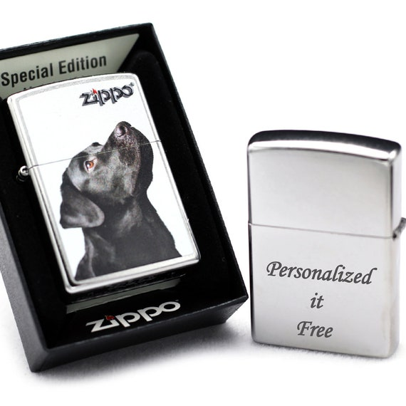 WINDPROOF SILVER METAL LIGHTER WITH FREE ENGRAVING PERSONALISED YOUR LIGHTER