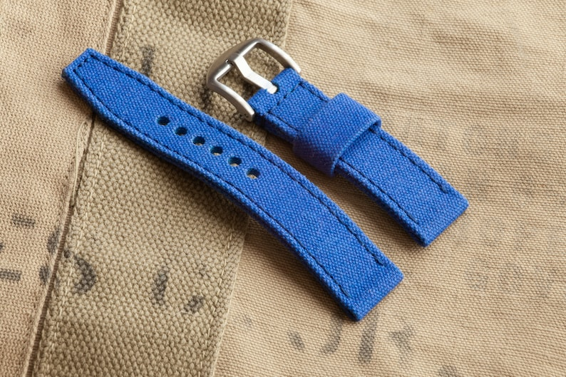 Royal Blue Watch Strap from 15oz Canvas 20mm 22mm 24mm  befd3e7cf9e7