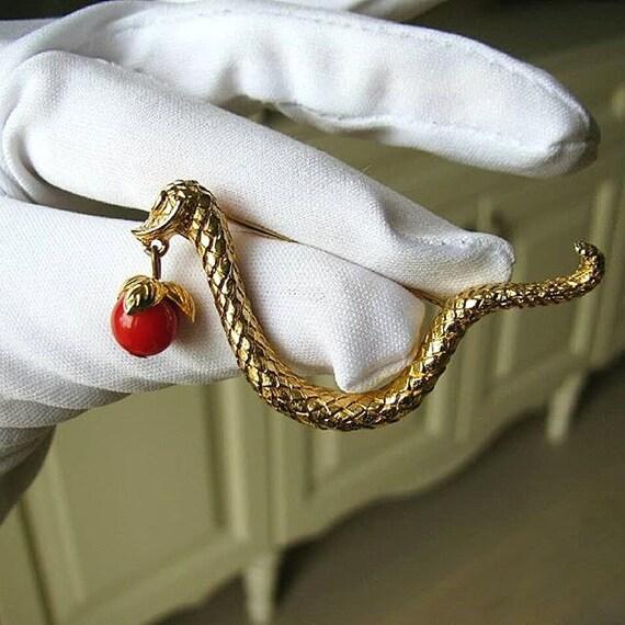 Cadoro snake brooch 70's