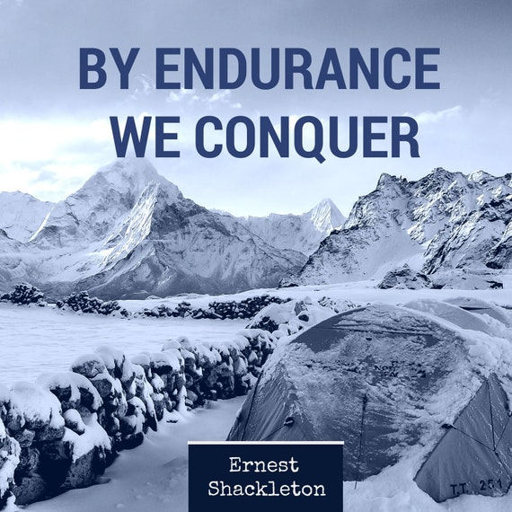 shackleton by endurance we conquer