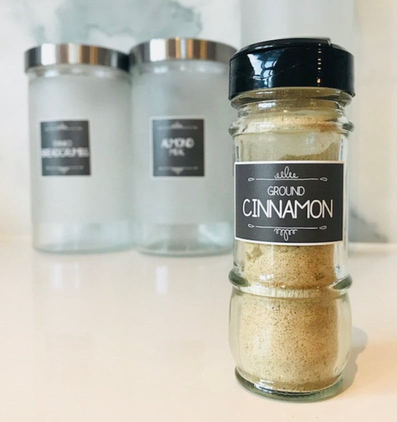 100 Spice jar labels water resistant vinyl