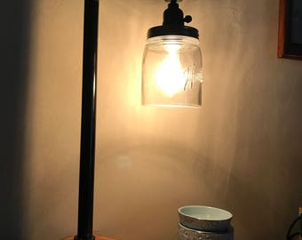 industrial rustic pipe lamp
