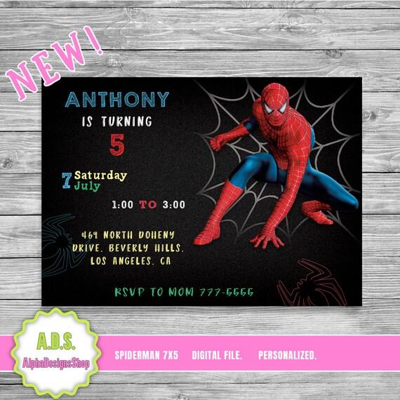 Spiderman InvitationSpiderman Birthday