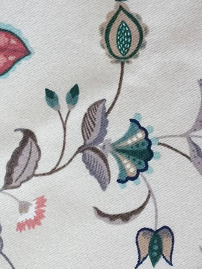 Fabric Aetilier Original 1986 Floral Tan Multi Color Screen Print Home Decor 12 12 yards 54