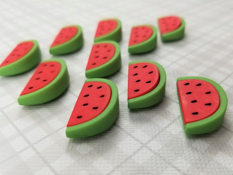 Neodymium Magnets Resin Magnets Picnic Watermelon Decorative Magnets Foodie Magnets Fruit Magnets Summertime Set of 10 SUPER STRONG