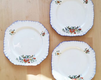 1930's Art Deco Alfred Meakin Side Plates Set of 3