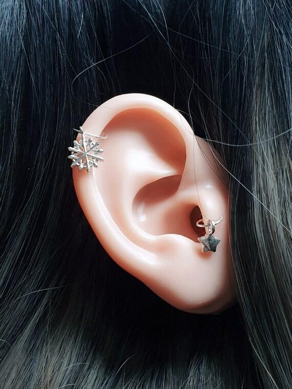 Ling Studs Earrings Hypoallergenic Cartilage Ear Piercing Simple Fashion Earrings Ear Jewelry Long Big Earrings