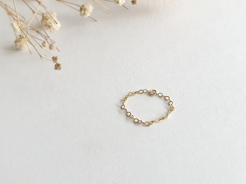 Stacking Rings Minimalist Dainty /& Simple Thin Chain Ring Knuckle Rings bridesmaid gift Customized gift SV92514KGFRose gold
