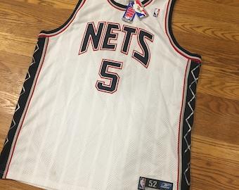 New NWT Vintage Jason Kidd NBA New Jersey Nets Basketball Jersey Size 52 By  Reebok 4f3f98d45