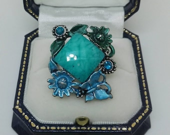 Jewellery & Watches Costume Jewellery New Fabulous Chunky Blue Turquoise Ring With Stretch Adjustable Strap.