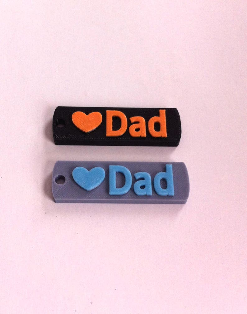CUSTOM 3D PRINTED Keychain Keyring Love Dad Happy  d2e45f0e6179