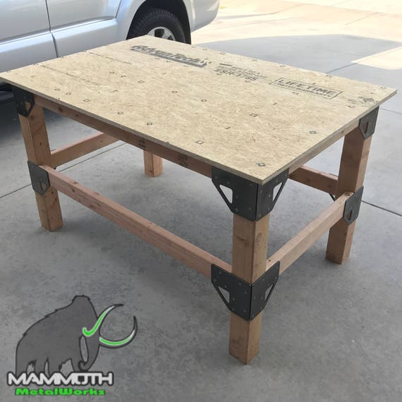 Items similar to DIY Workbench/Table Bracket Kit (4x4 post ...
