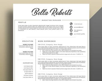 Modern Resume Template Professional CV And Eye Catching For Word Pages