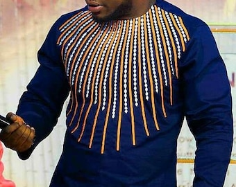 African Clothing, Men Shirt, Men Clothing, African Shirt, Embroidery, mens wear