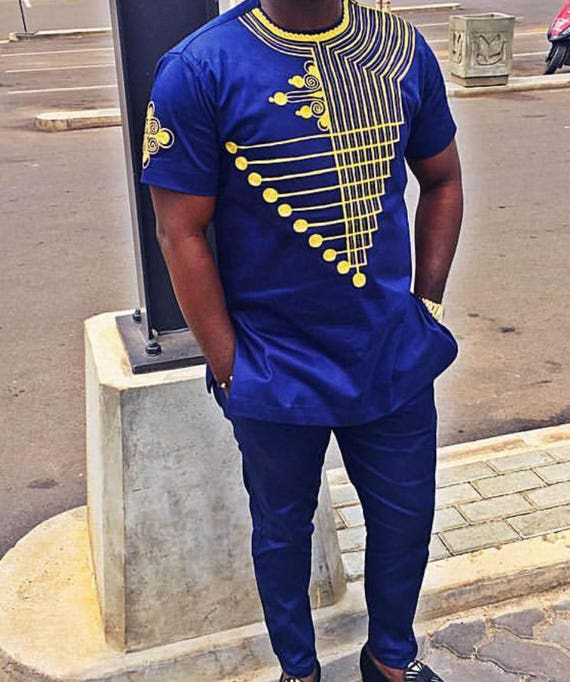 Items similar to African Clothing, Men Shirt, Men Clothing, African Shirt, Embroidery, mens wear ...