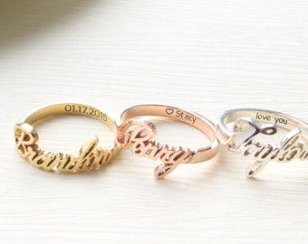 Engraved Ring Etsy