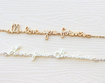 Actual Handwriting Bracelet - Signature Bracelet - Custom Handwriting Bracelet - Name Bracelet - Bridesmaid Gift - Mother's Day Gift