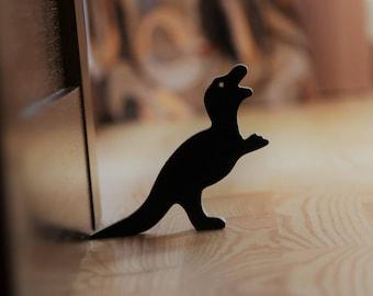 T-Rex door stop Door stopper Door stop Doorstop Door holder Dinosaur door stopper Door hold Wood door stop Door wedge Dinosaur decor Animal