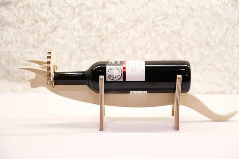 Wine lovers Wine gift Wine holder Dinosaur wine rack  Gift for her Hausewarming gift Bottle holder Wooden wine furniture Christmas gift