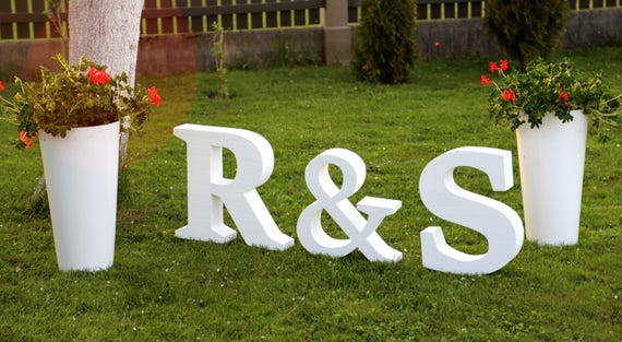 Party Letter Wedding Letters Large Letter Foam Letters Big Etsy