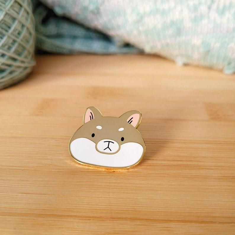 Shiba Enamel Pin  cute Pin cute Shiba Inu pin  cute enamel image 0