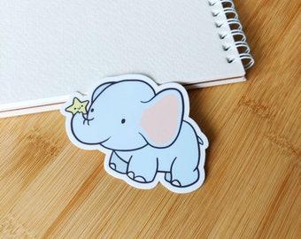 Elephant Sticker - Laptop Sticker - Cute Vinyl Sticker - Planner Accessories