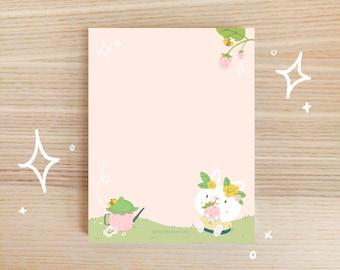 Cute Bunny Notepad - Blank Notepad - Memo Pad Cute - Memo Pad Kawaii