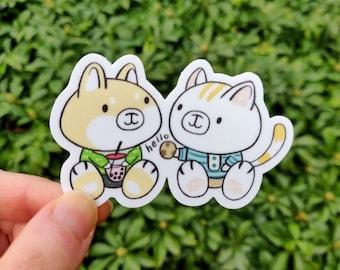 Friendship Sticker - Laptop Sticker - Cute Vinyl Sticker - Food Sticker
