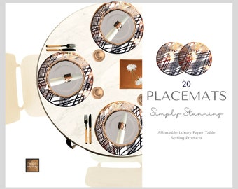 Copper Foil Placemats. (Pack of 20)