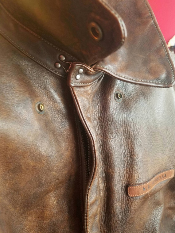 newest the best official store A-2 WW2 Leather Bomber Jacket - Vintage Replica by Ralph Lauren
