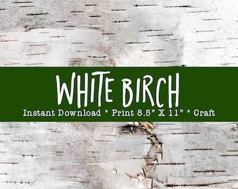 BIRCH BARK Printable, Birch Bark Paper Crafts, Photo Birch Bark Paper, Digital Printable, DIY Holiday Crafts, Birch Bark Photo