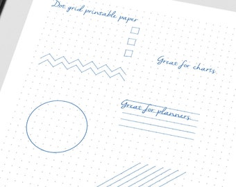 """Bullet Journal Dot Paper, Printable Bullet Journal, Bullet Journal, Dot Paper Print From Home 8.5"""" x 11"""" Paper, Planners And Organizers"""