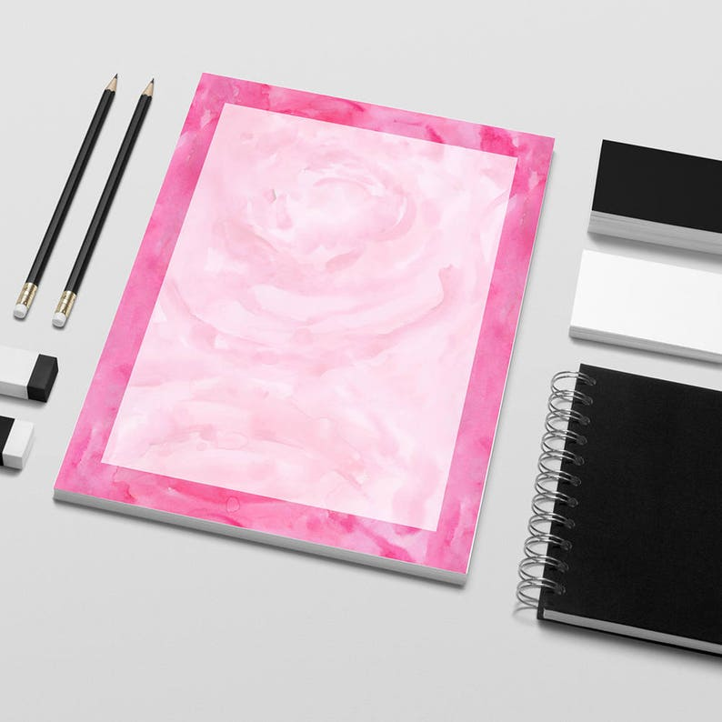 Printable Writing Paper Decorative Writing Paper Pink Etsy
