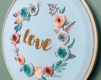 Hoop 'Love' Hand Embroidery