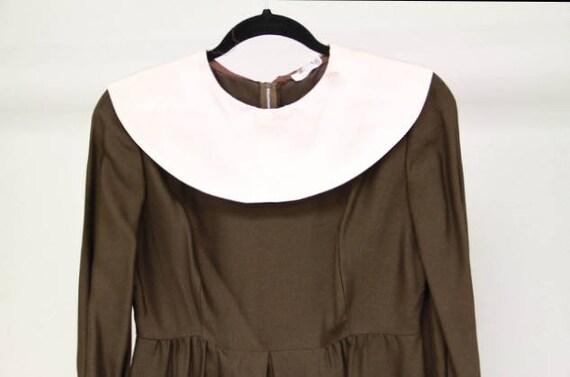 1960s Peter Pan Collar Dress Sz S-M - image 5