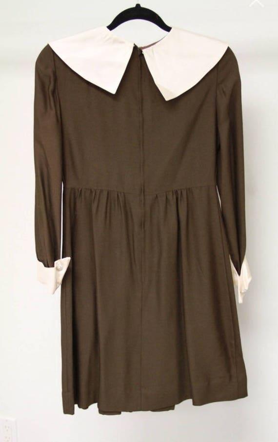 1960s Peter Pan Collar Dress Sz S-M - image 6