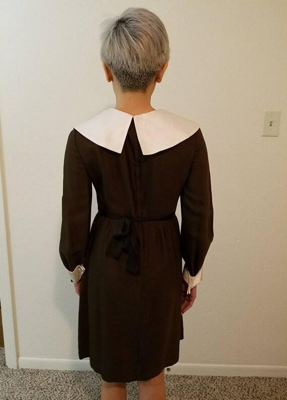 1960s Peter Pan Collar Dress Sz S-M - image 2