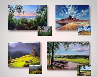 Commission Painting from photo Custom order landscape