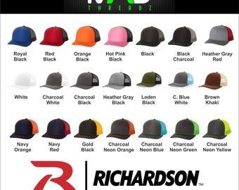 0e1f49fc8d3 Personalized richardson trucker hat
