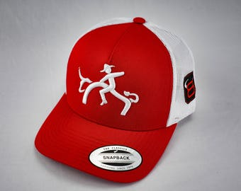 0d2dc1d0d2a Red Cowboy trucker hat