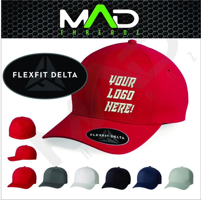 Personalized FlexFit Delta Hat, FlexFit, Custom, embroidery, your text  here, business logo, custom embroidered hat, custom hats, workout hat