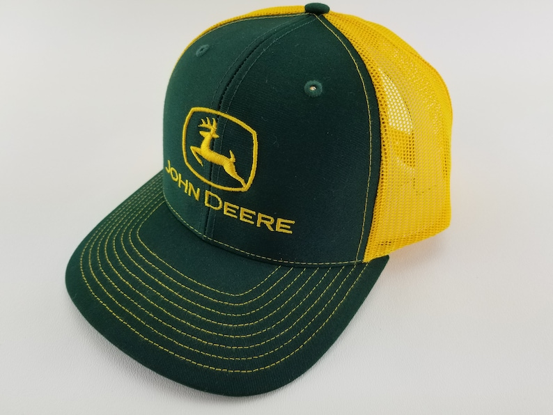 8fc002fd242 John deere trucker hat green John deere embroidered hat