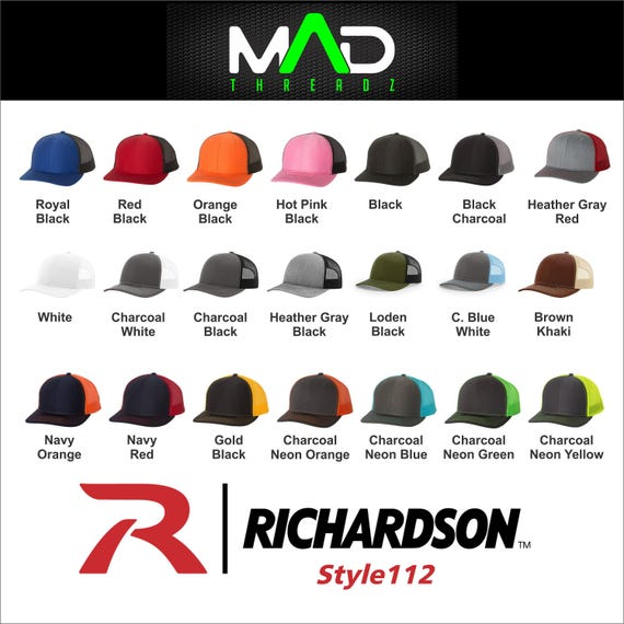 11618f233fcb0 Personalized richardson trucker hat Custom Embroidered hat