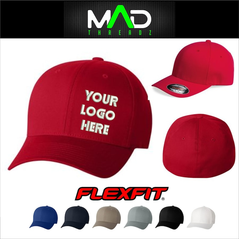 125f7c49407c9 Custom Flexfit hat personalized hat embroidered hat your